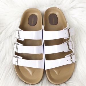 Call it Spring White Sandals Size 8